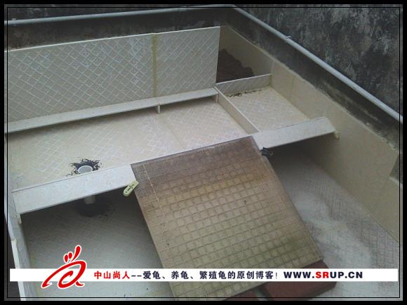 抛光砖养龟池